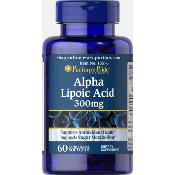 Acid Alfa Lipoic 300 mg-60 capsule