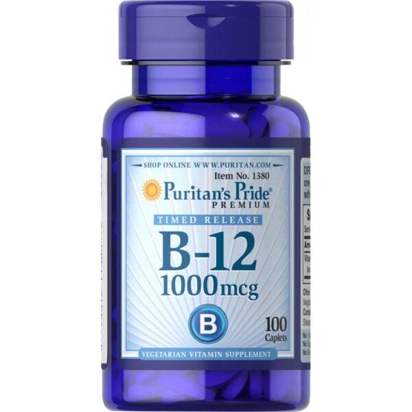 Vitamina B 12 1000mcg-100 tablete eliberare lenta