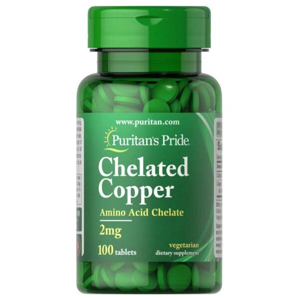 Cupru chelat 2 mg-100 tablete