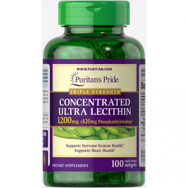 Lecitina Ultra Concentrat 1200mg-100 capsule