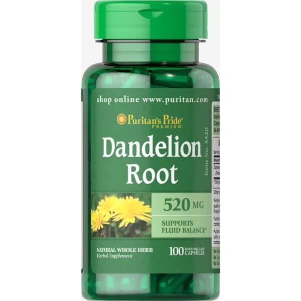 Papadie Radacina Dandelion 520 mg-100 capsule