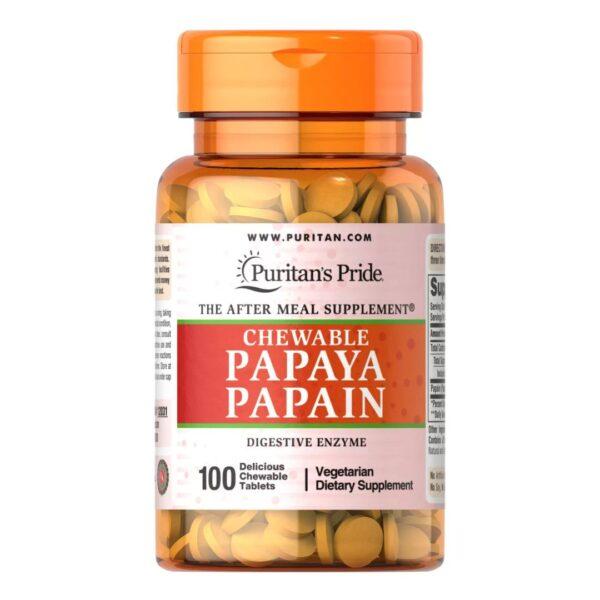 ENZIME Papaia Papain-100 tablete masticabile