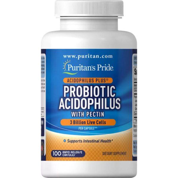 Probiotic Acidophilus cu Pectina-100 capsule