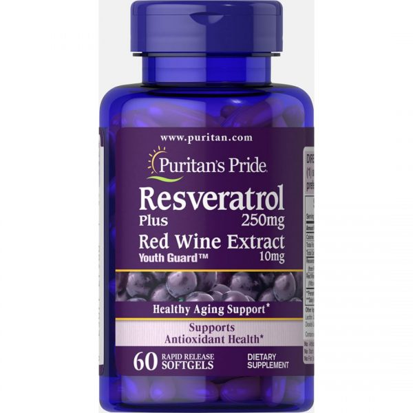 Resveratrol 250 mg Extract vin rosu-60 capsule