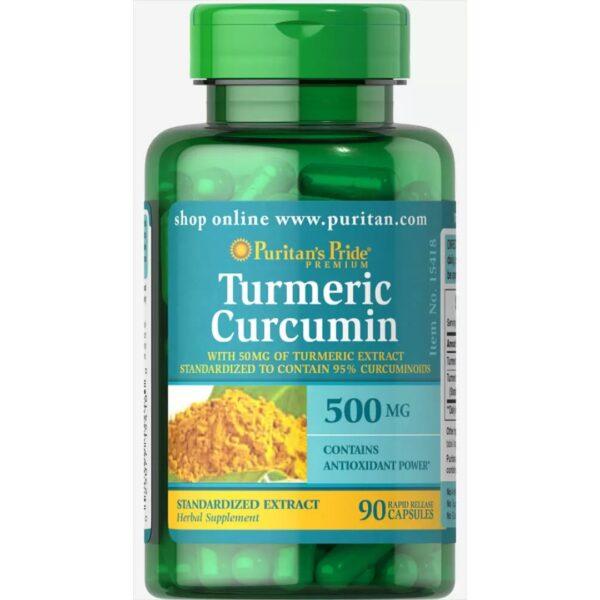 Turmeric Curcuma 500 mg-90 capsule