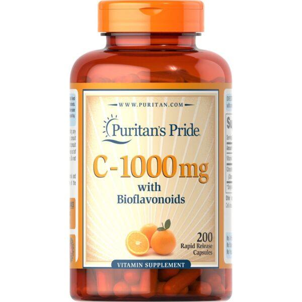 Vitamina C 1000 mg-200 capsule