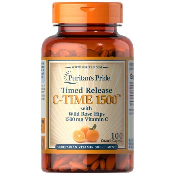 Vitamina C 1500 mg 100 comprimate Eliberare prelungita