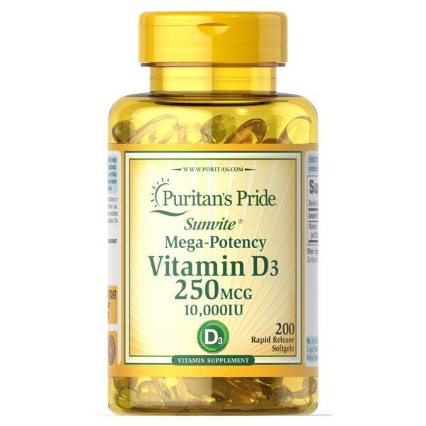 Vitamina D 3 10000 IU-200 capsule