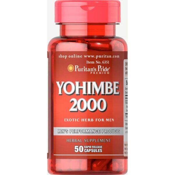 Yohimbe 2000 mg-50 capsule