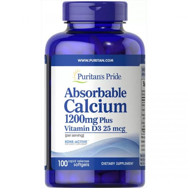 Calciu Absorbabil 1200mg cu Vitamina D-100 capsule