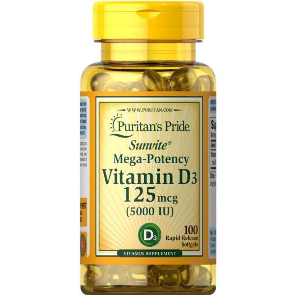 Vitamina D 3 5000 IU-100 capsule