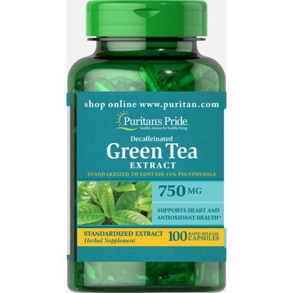 Ceai Verde extract 750 mg-100 capsule