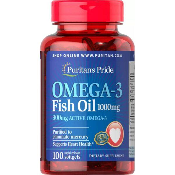 Omega 3 ulei de peste 1000 mg-100 capsule