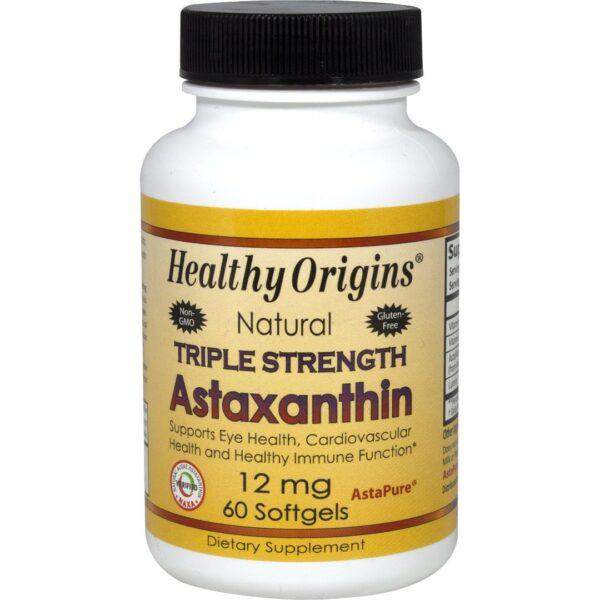 Astaxanthin Triple Strength 12 mg-60 capsule