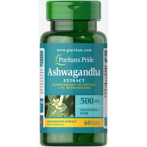 Ashwagandha Ginseng Indian 500 mg-60 capsule