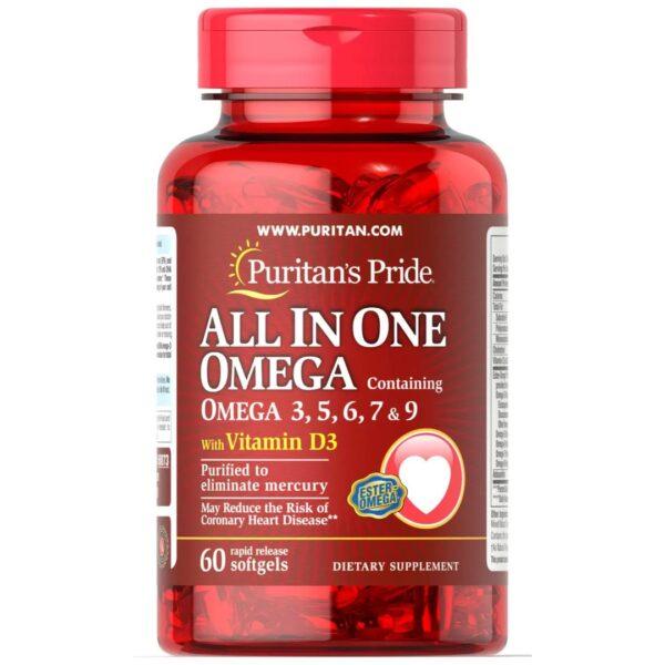 Omega 3,5,6,7 si 9 cu Vitamina D-60 capsule