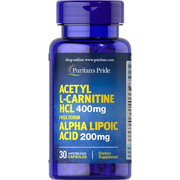 Acetil L-Carnitina cu Acid Alfa Lipoic-30 capsule