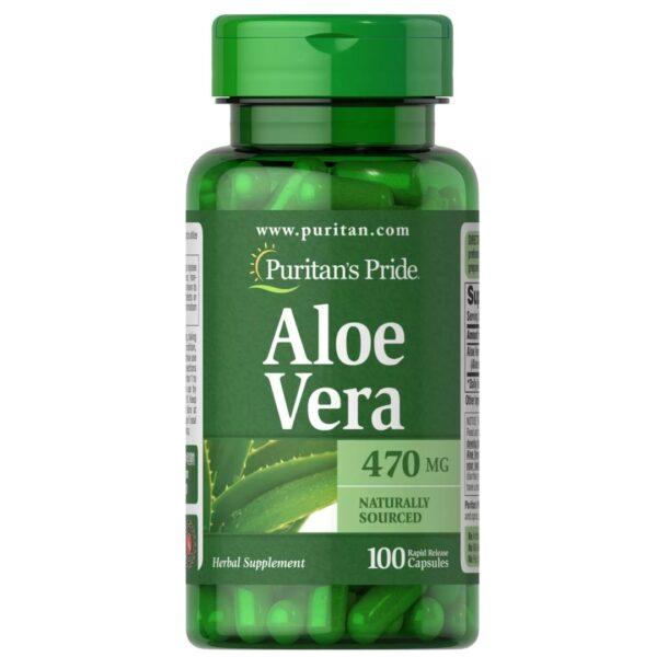 Aloe Vera 470 mg-100 capsule