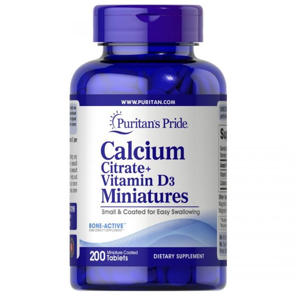 Calciu Citrat+Vitamina D3-200 tablete mici