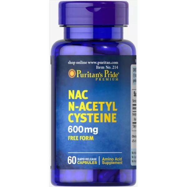 Acetilcisteina NAC 600 mg-60 capsule