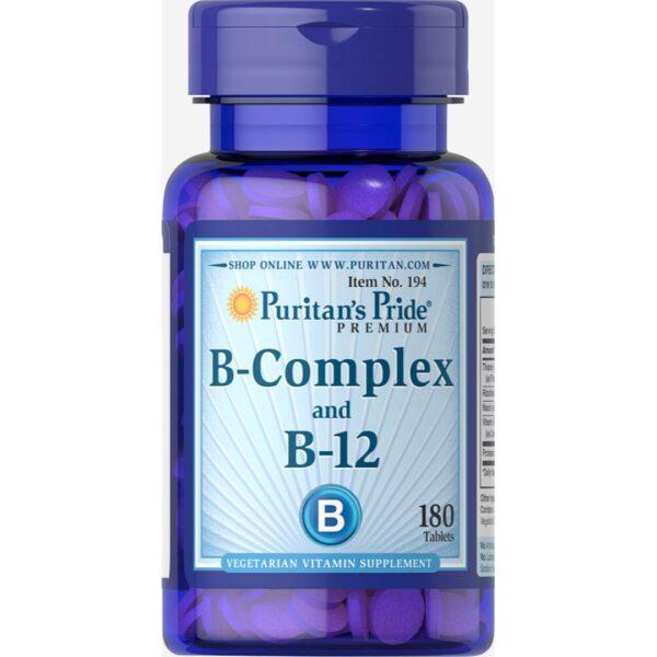 Vitamina B Complex si Vitamina B 12-180 tablete
