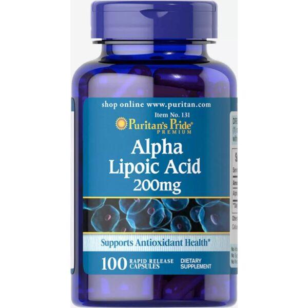 Acid Alfa Lipoic 200 mg-100 capsule