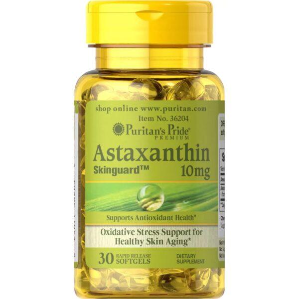 Astaxanthin Natural(Astaxantina)10 mg-30 capsule