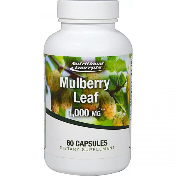 Dud alb Mulberry Leaf 1000 mg-60 capsule