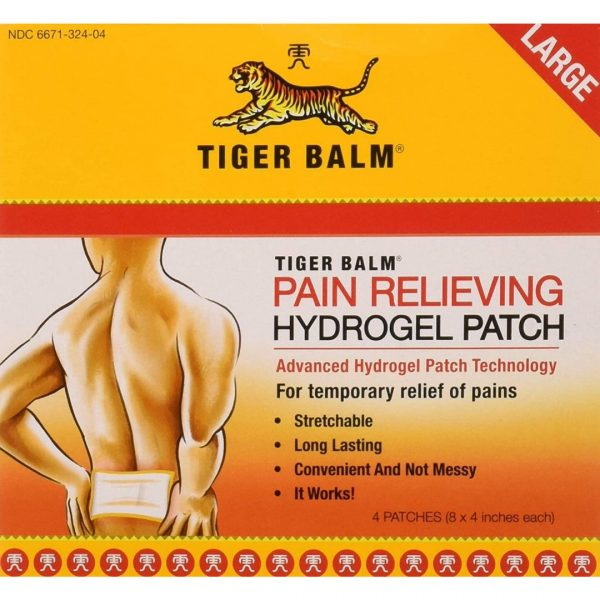 Tiger Balm®pentru ameliorarea durerii-4 plasturi