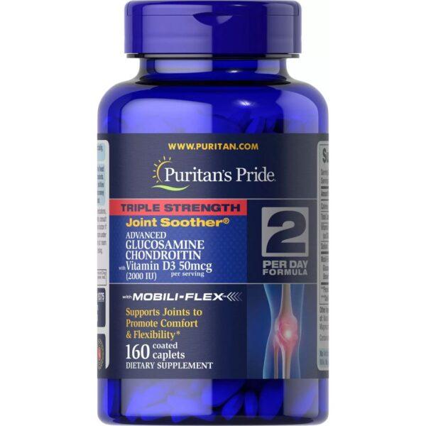 Triplu Glucozamina Condroitin & MSM-160 comprimate