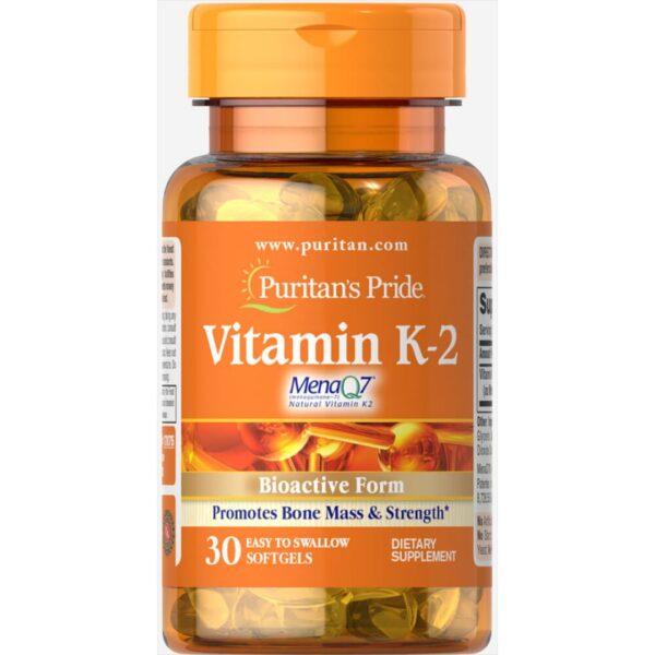 Vitamina K-2(MenaQ7)-30 capsule