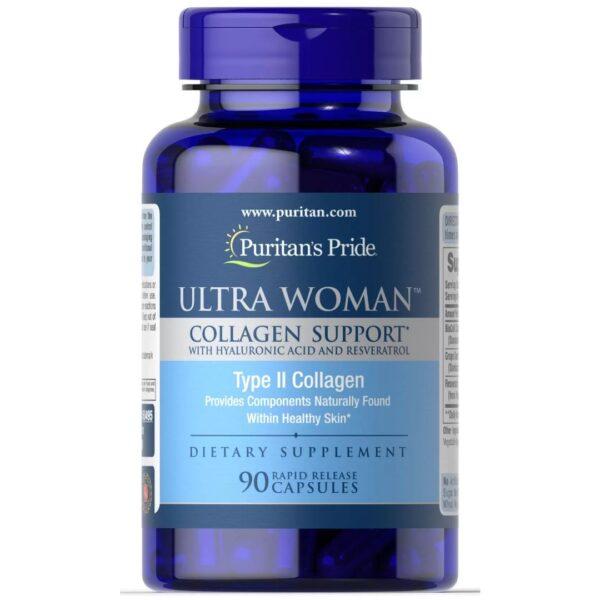 Ultra pentru Femei™Colagen Suport & Acid Hialuronic-90 capsule