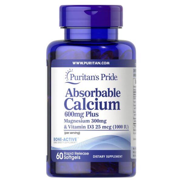 Calciu Absorbabil cu Magneziu si Vitamina D-60 capsule