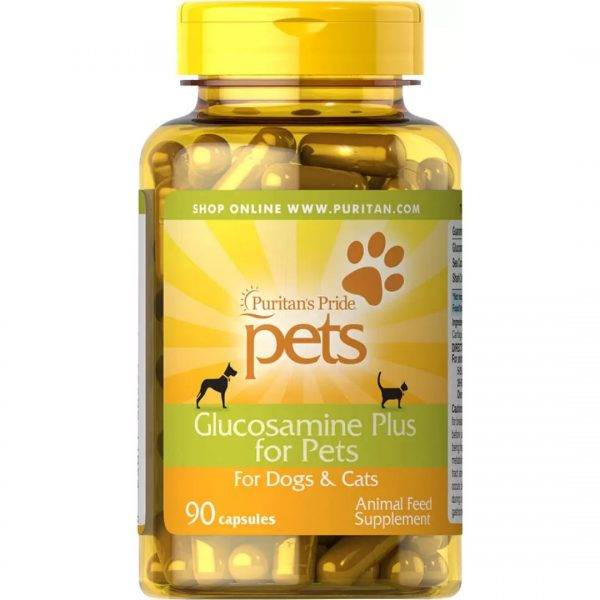 Glucozamina Plus pentru Catei si Pisici-90 capsule
