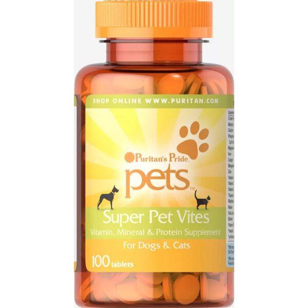 Vitamine,Minerale&Proteine pentru Catei si Pisici-100 tablete