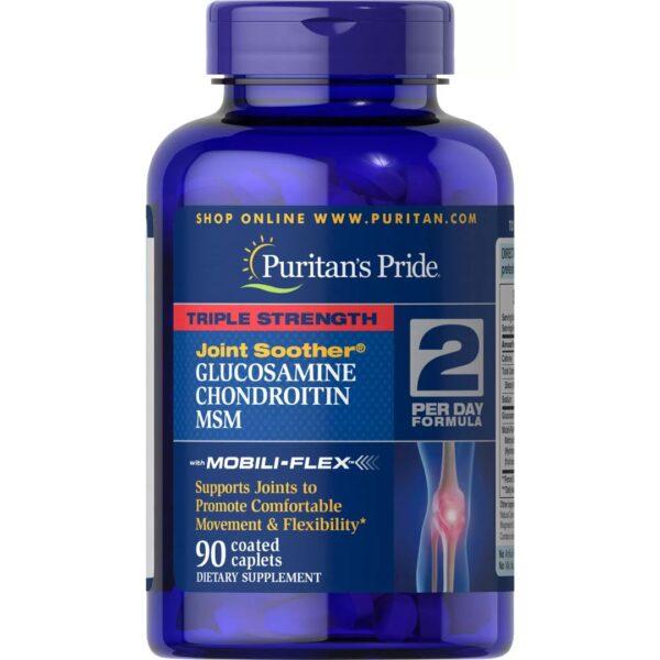 Triplu Glucozamina Condroitin & MSM-90 comprimate