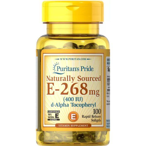 Vitamina E Naturala cu Seleniu-100 capsule