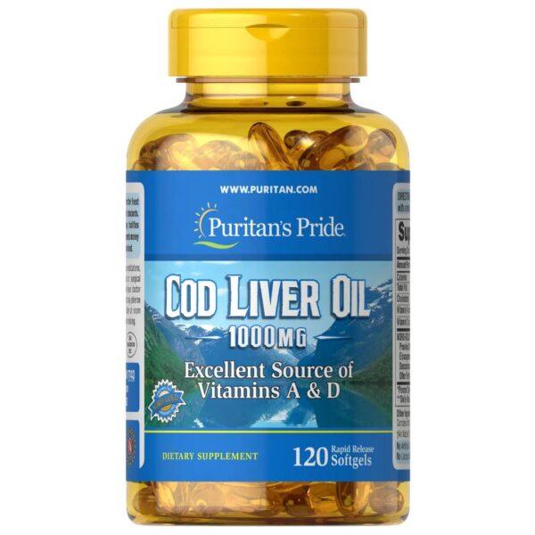 Ulei Ficat de Cod 1000 mg-120 capsule