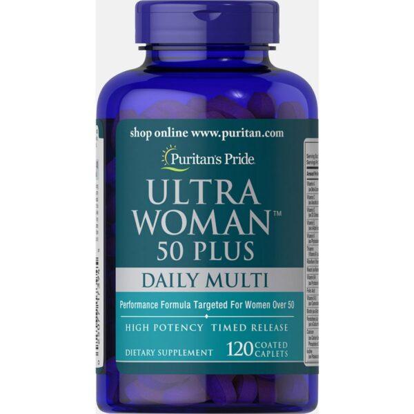 Ultra Woman™ 50 Plus Multi-Vitamine cu Zinc-120 comprimate
