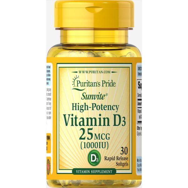 Vitamina D 3 1000 IU-30 capsule