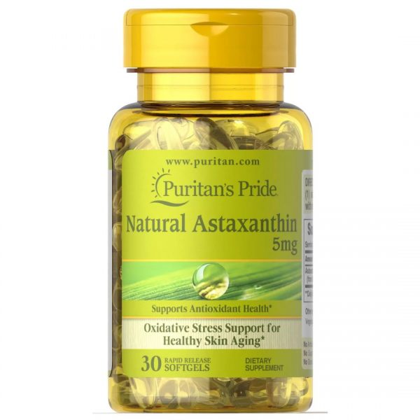 Astaxanthin Natural Astaxantina 5 mg-30 capsule