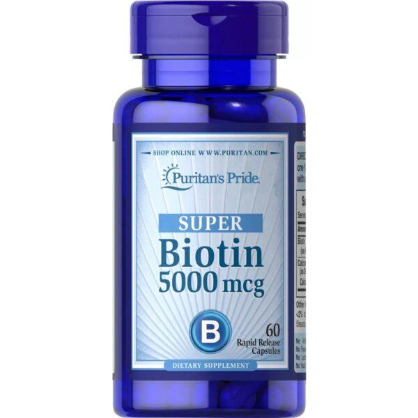 Biotina 5000 mcg-60 capsule