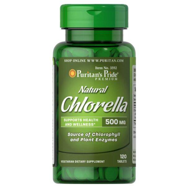Chlorella Natural 500 mg-120 tablete
