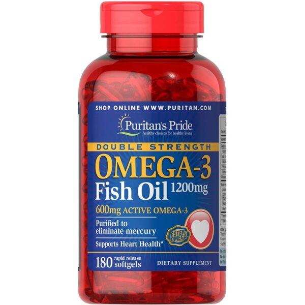Omega 3 Ulei de peste 1200 mg-180 capsule
