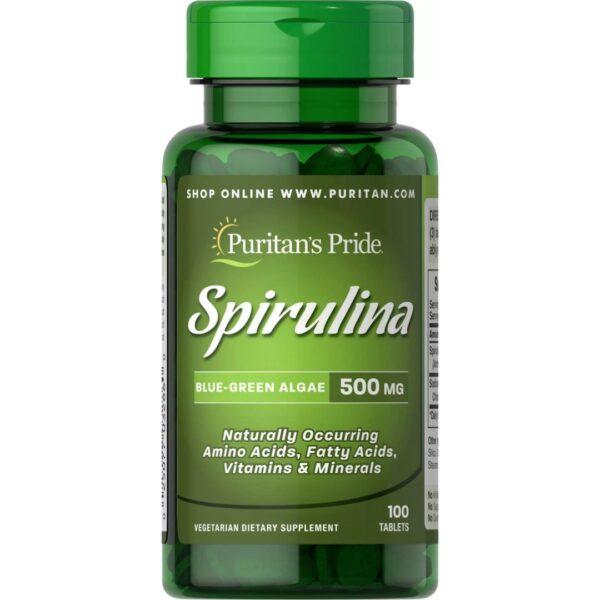 Spirulina 500 mg-100 capsule