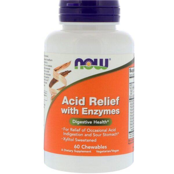 Acid Relief cu Enzime-60 masticabile