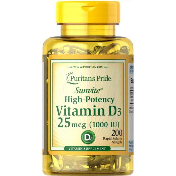 Vitamina D 3 1000 IU-200 capsule