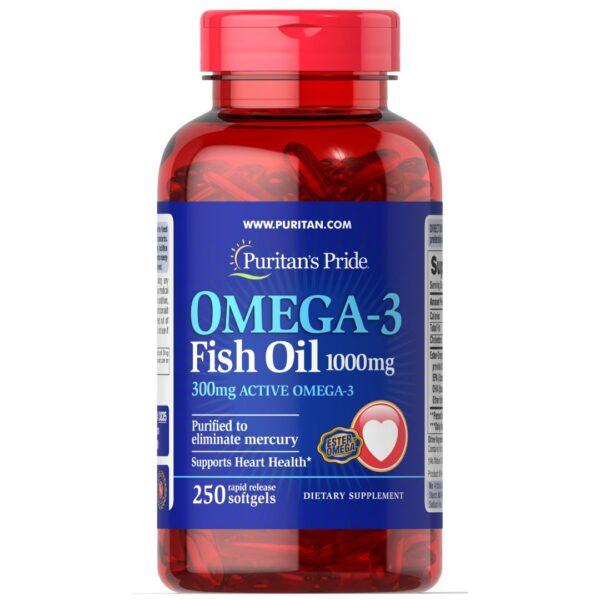 Omega 3 Ulei de Peste 1000 mg-250 capsule
