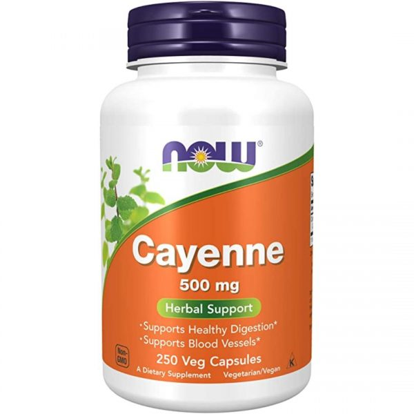 Ardei Iute Cayenne (Capsaicina)500mg-250 capsule