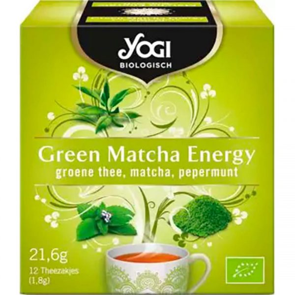 Ceai BIO Verde Matcha si Menta 12 plicuri-21,6 g